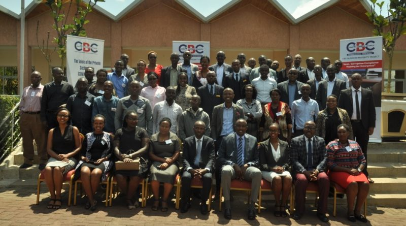 Governance for Africa convened an anti-corruption compliance training in Kigali involving about 50 companies
